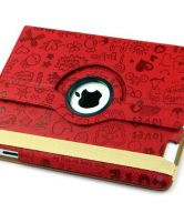Apple iPad Mini 360 Degree Rotary Animated Swivel Case -Red Magic Girl