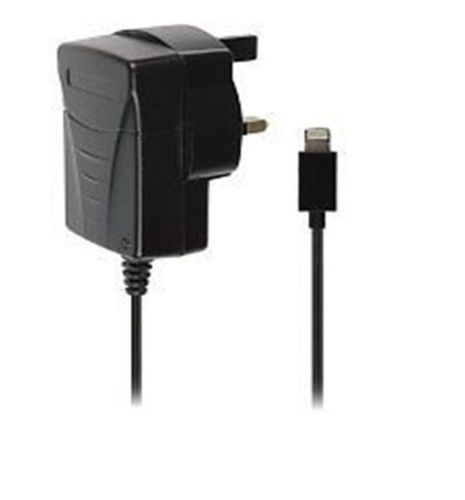 Uk Mains Charger For The New iPhone 5, iPad Mini, iPod Touch 5G & Nano 7G –  Black
