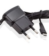 EU Plug AC Wall Micro USB Mains Charger - 2 Pin