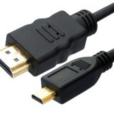 Micro HDMI to HDMI CABLE for HD-TV, HD-DVD, HD-SAT 3m