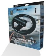STEERING WHEEL FOR NINTENDO WII MOTION PLUS - BLACK