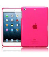 X Line Gel Case For Apple iPad Mini - Pink + Free Screen Protector