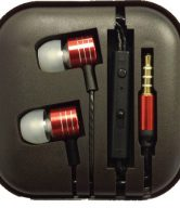 Metal Earphones Newstyle - Red