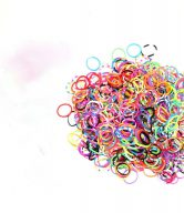 Bag of coloured looms {600 looms in a bag}