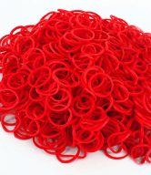Bag of Red coloured looms {600 looms in a bag}