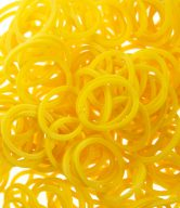 Bag of Yellow coloured looms {600 looms in a bag}