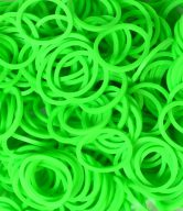 Bag of Green coloured looms {600 looms in a bag}