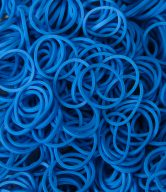 Bag of Pearl Blue coloured looms {600 looms in a bag}