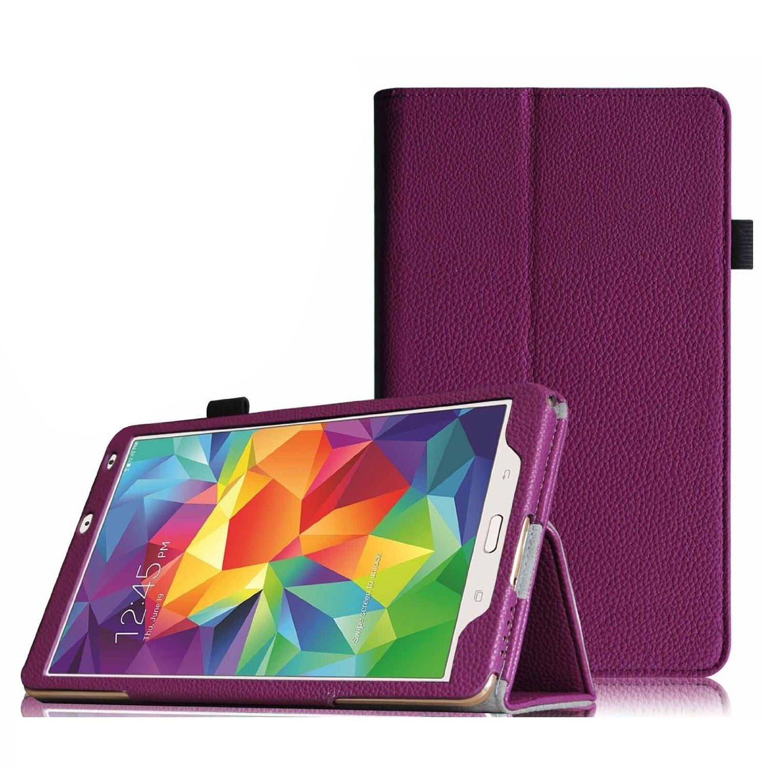 """Tablet leather case packs - GALAXY TAB S 8.4 INCH(PURPLE) """