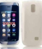 Gel Case Cover For Nokia Asha 308 - Clear