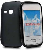 Gel SILICONE skin case cover for Samsung galaxy Young S6310 Black