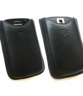 100% GENUINE BLACKBERRY BOLD 9000 HDW-16000-002 LEATHER POCKET POUCH CASE BLACK