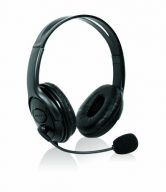 BLACK HEADPHONES WITH MIC FOR XBOX 360