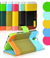 Hybrid Leather Wallet Flip Stand Case Cover For iPhone Note 2 - Green